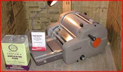 A mimeograph